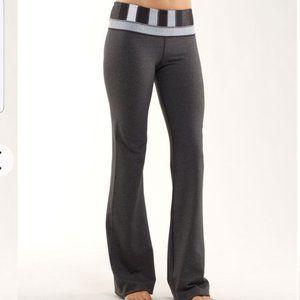 Lululemon Groove Pants 8 Tall Heathered Coal Gray